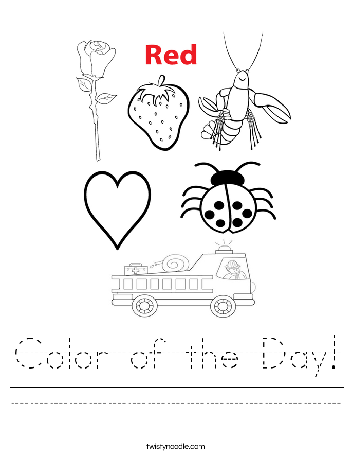 Color of the Day! Worksheet