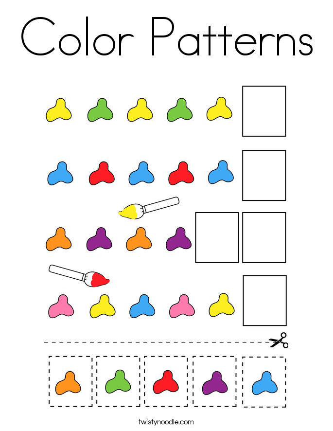Color Patterns Coloring Page