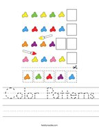 Color Patterns Handwriting Sheet