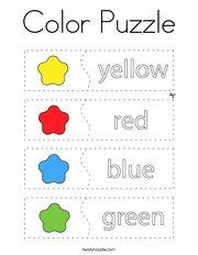 Color Puzzle Coloring Page