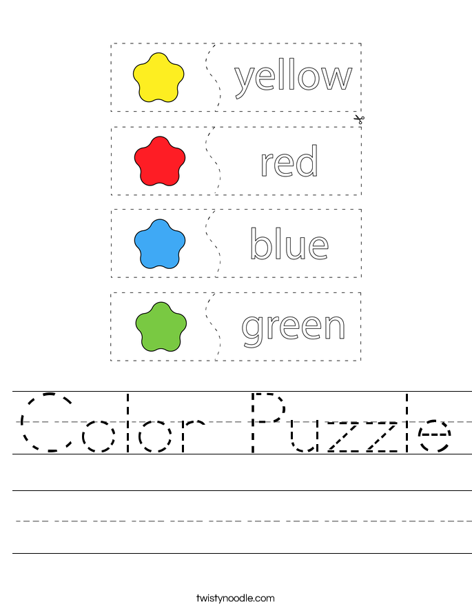 Color Puzzle Worksheet