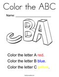 Color the ABC Coloring Page