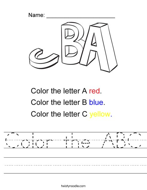 Color the ABC Worksheet