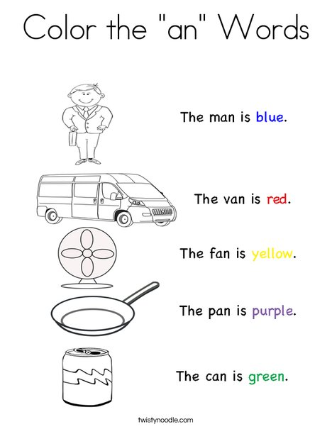 Color the \