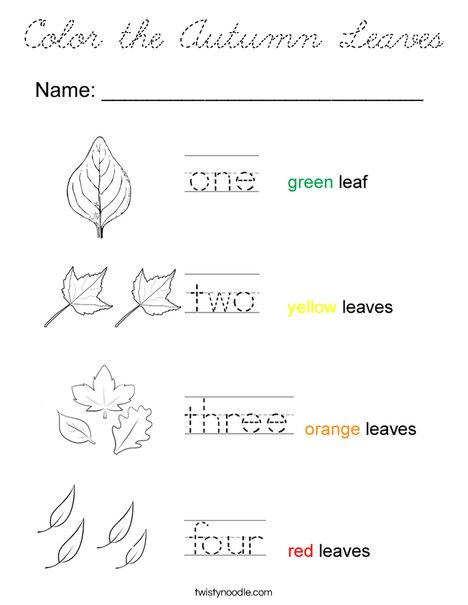 Color the Autumn Leaves Coloring Page