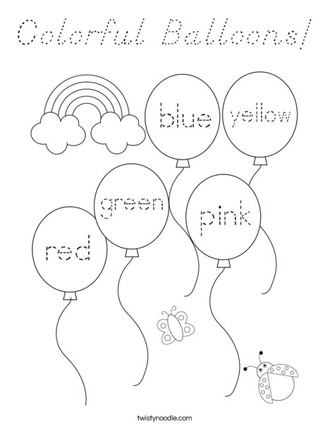 Color the balloons. Coloring Page