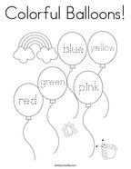 Colorful Balloons Coloring Page