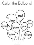 Color the Balloons! Coloring Page