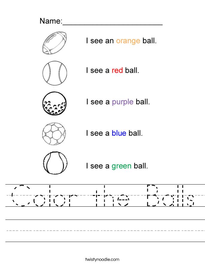 color the balls worksheet twisty noodle. Black Bedroom Furniture Sets. Home Design Ideas