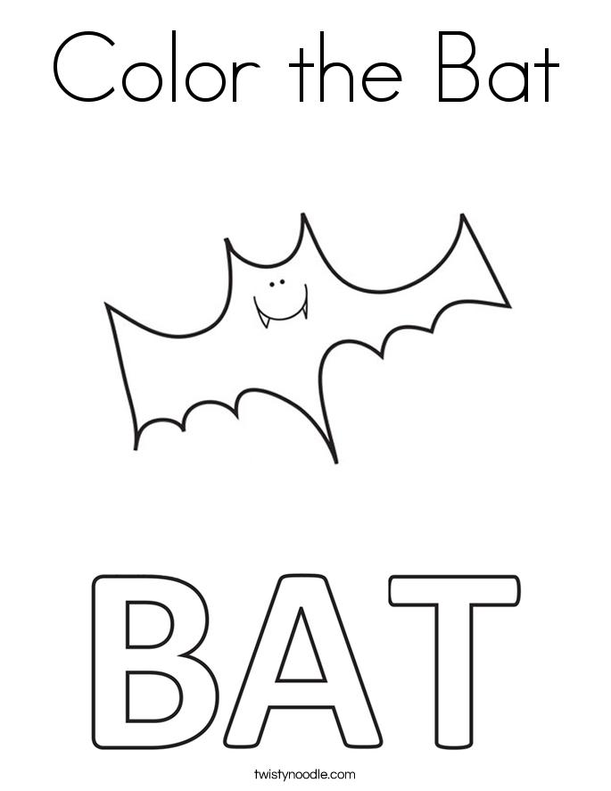 Color the Bat Coloring Page