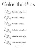 Color the Bats Coloring Page