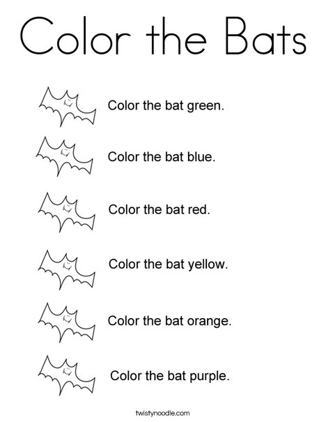 Color the Bats Coloring Page