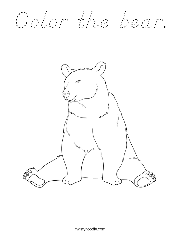 Color the bear. Coloring Page