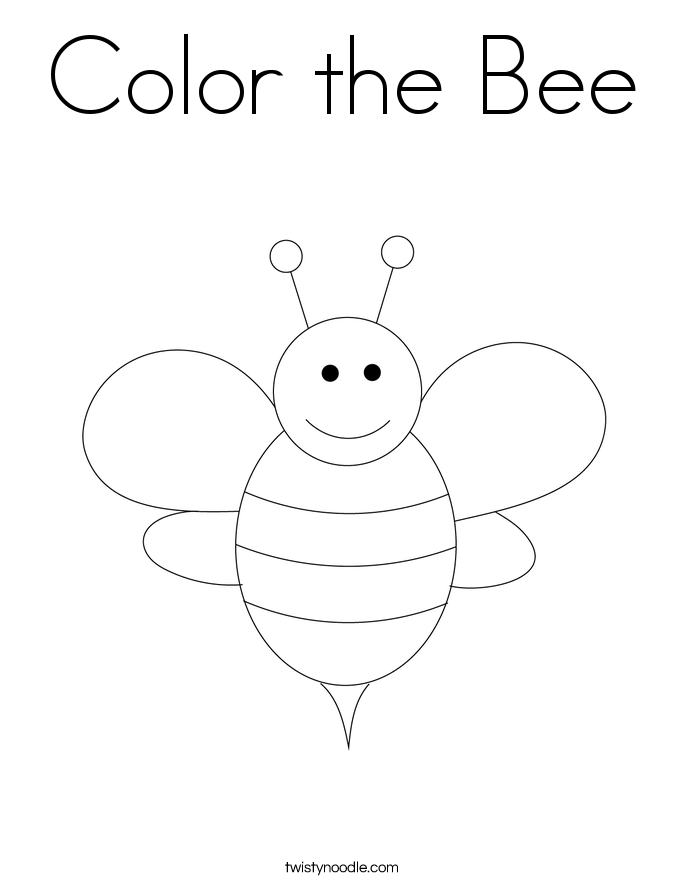 Color the Bee Coloring Page