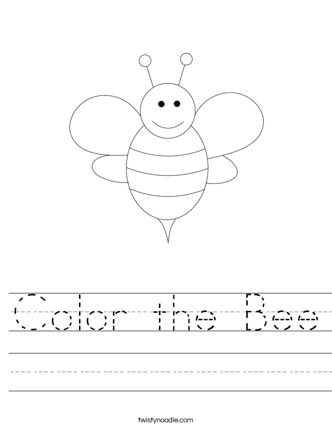 Color the Bee Worksheet