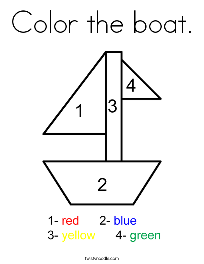 Color the boat. Coloring Page