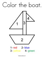 Color the boat Coloring Page