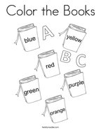Color the Books Coloring Page