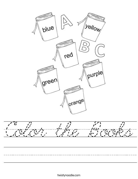Color the Books Worksheet