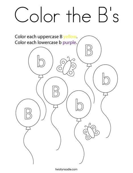 Color the B's Coloring Page