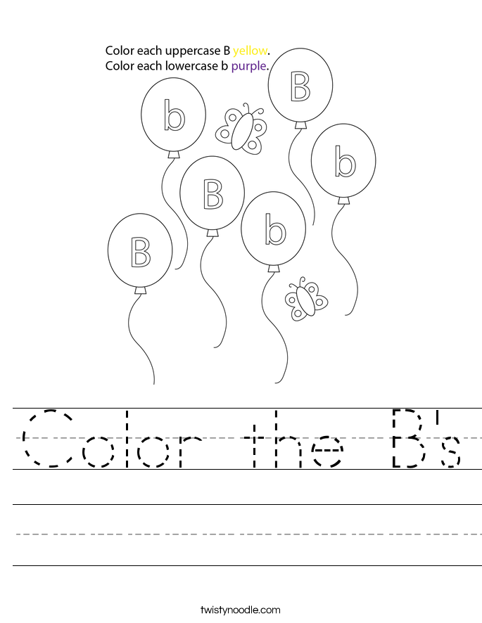 Color the B's Worksheet