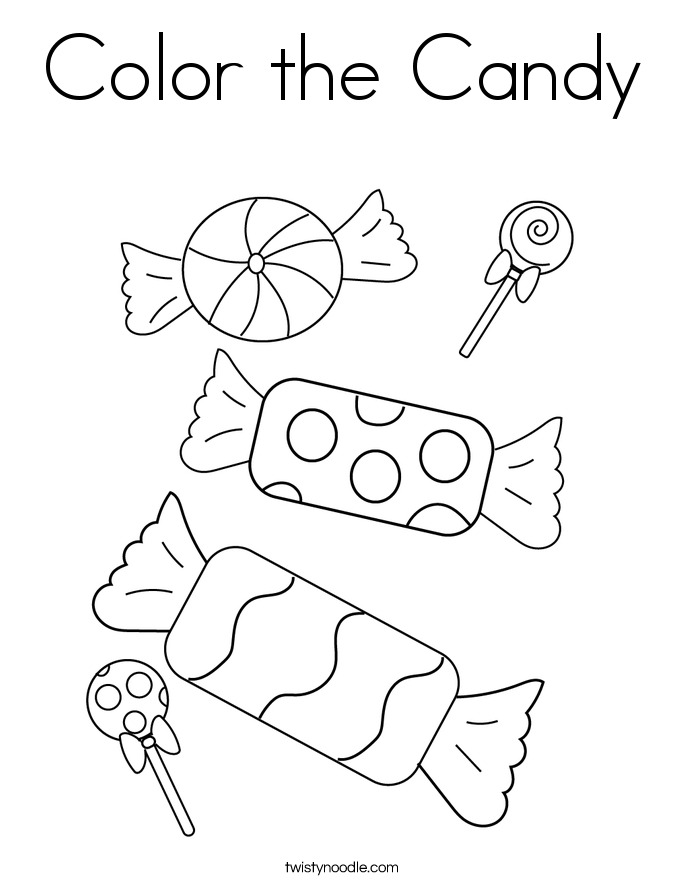 Color the Candy Coloring Page
