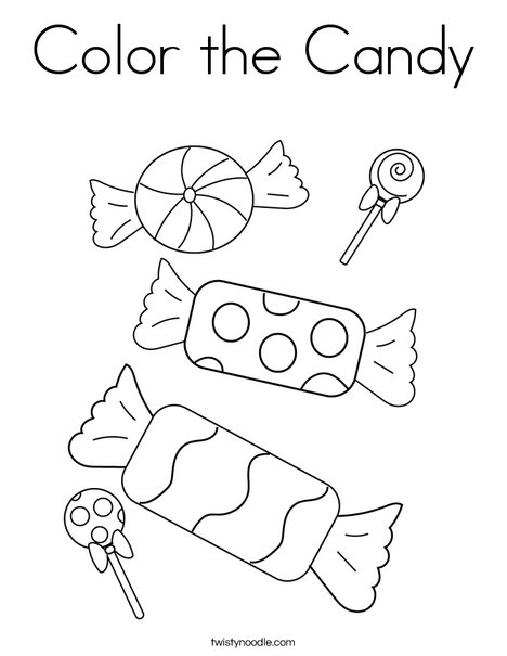 Color the Candy Coloring Page - Twisty Noodle