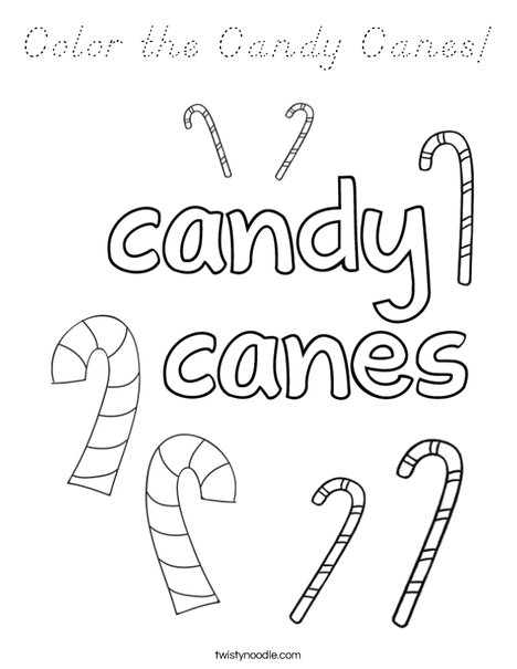 Color the Candy Canes Coloring Page
