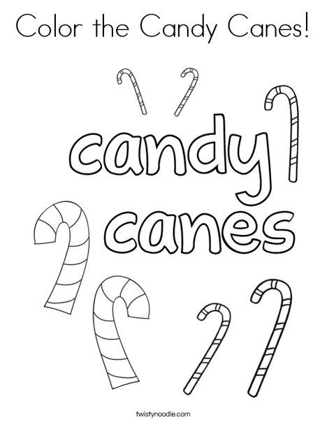 color the candy canes coloring page - Candy Cane Coloring Page