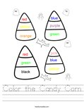 Color the Candy Corn Worksheet