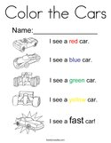 Color the Cars Coloring Page