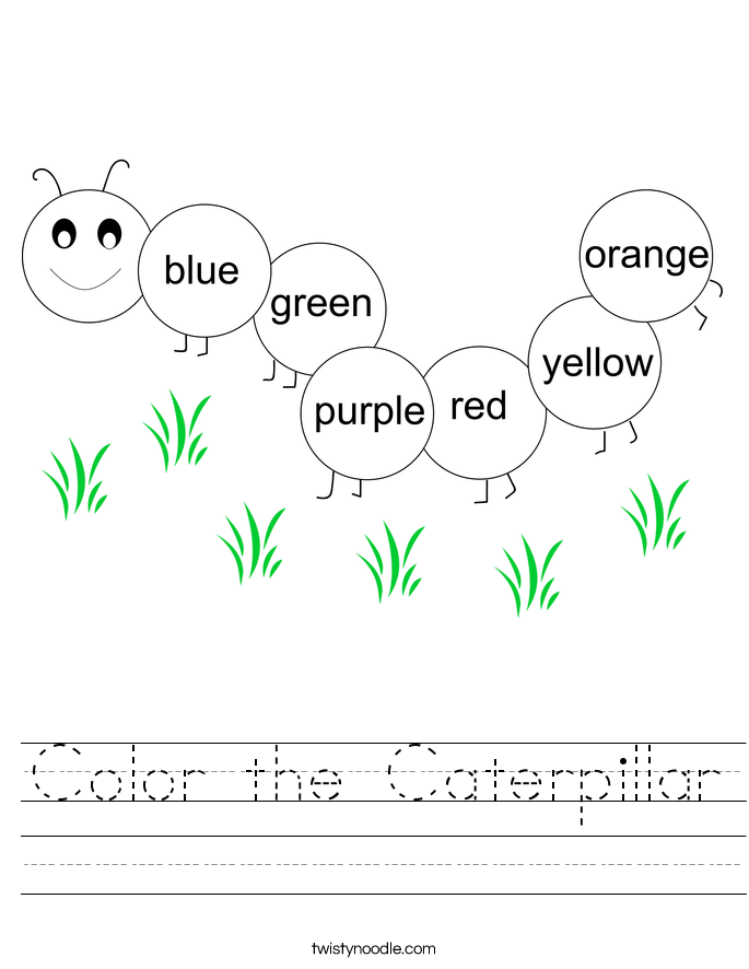 Color the Caterpillar Worksheet
