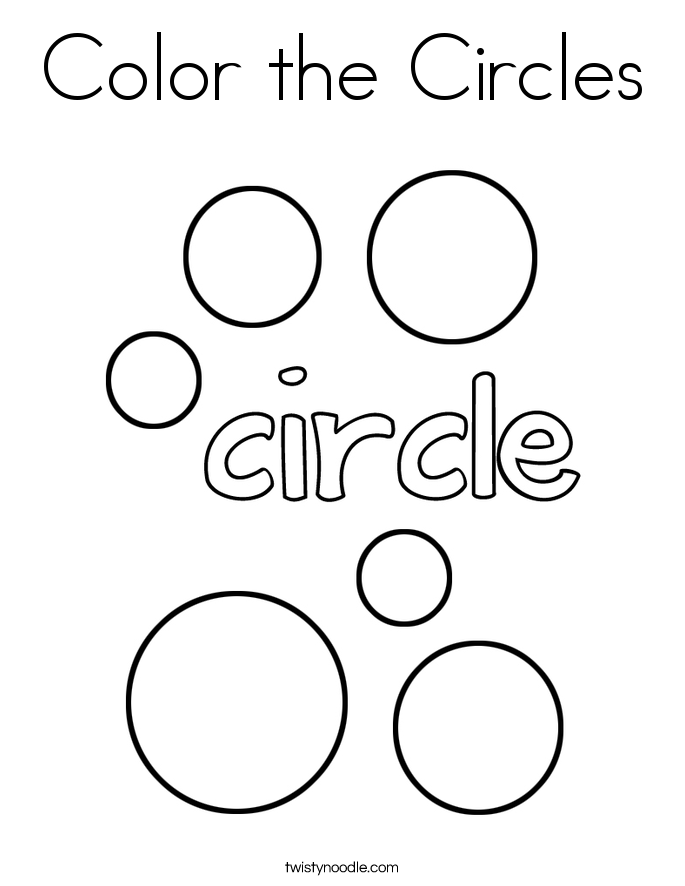 Color the Circles Coloring Page - Twisty Noodle