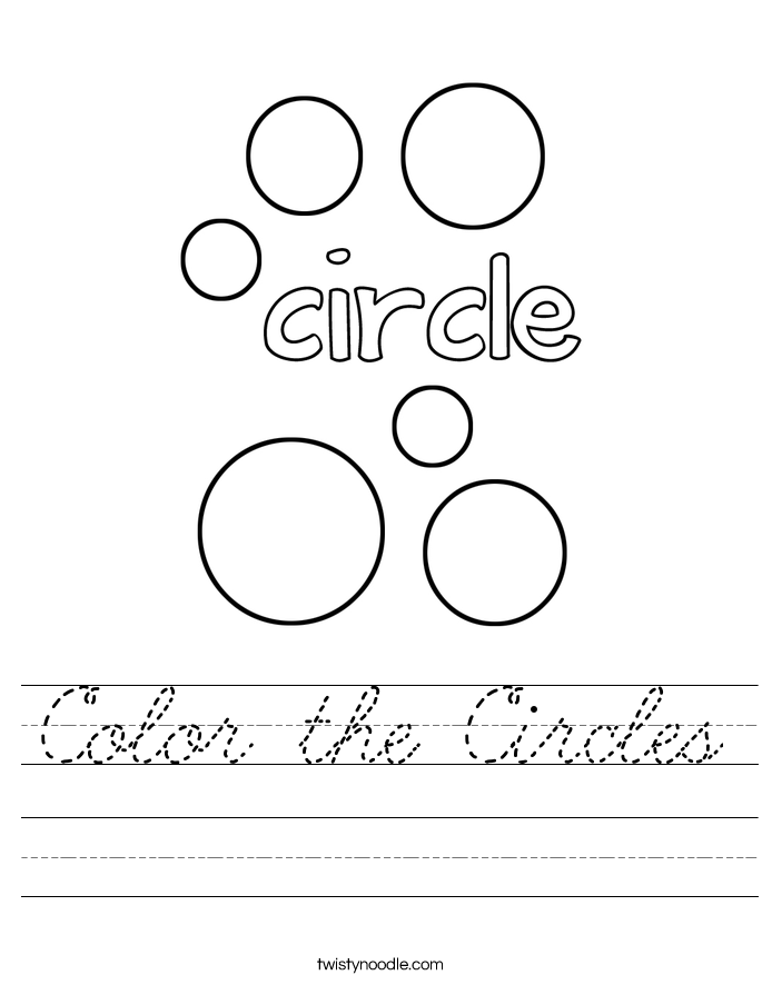 Color the Circles Worksheet