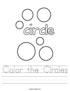 Color the Circles Handwriting Sheet
