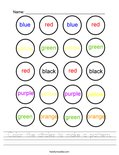 Color the circles to make a pattern. Worksheet