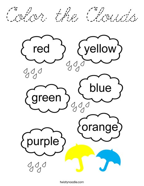 Color the Clouds Coloring Page