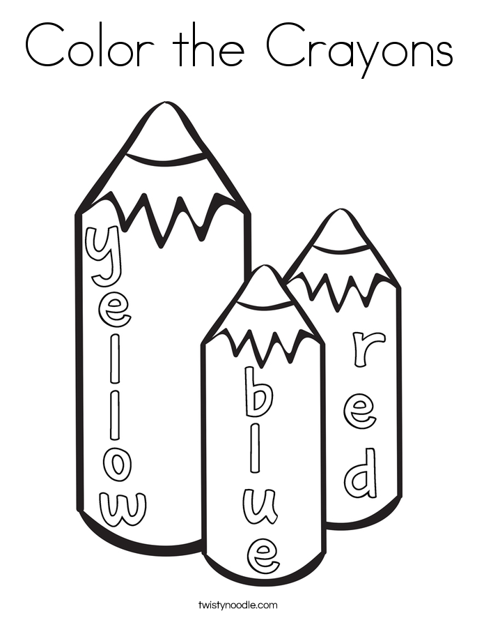 Color the Crayons Coloring Page - Twisty Noodle