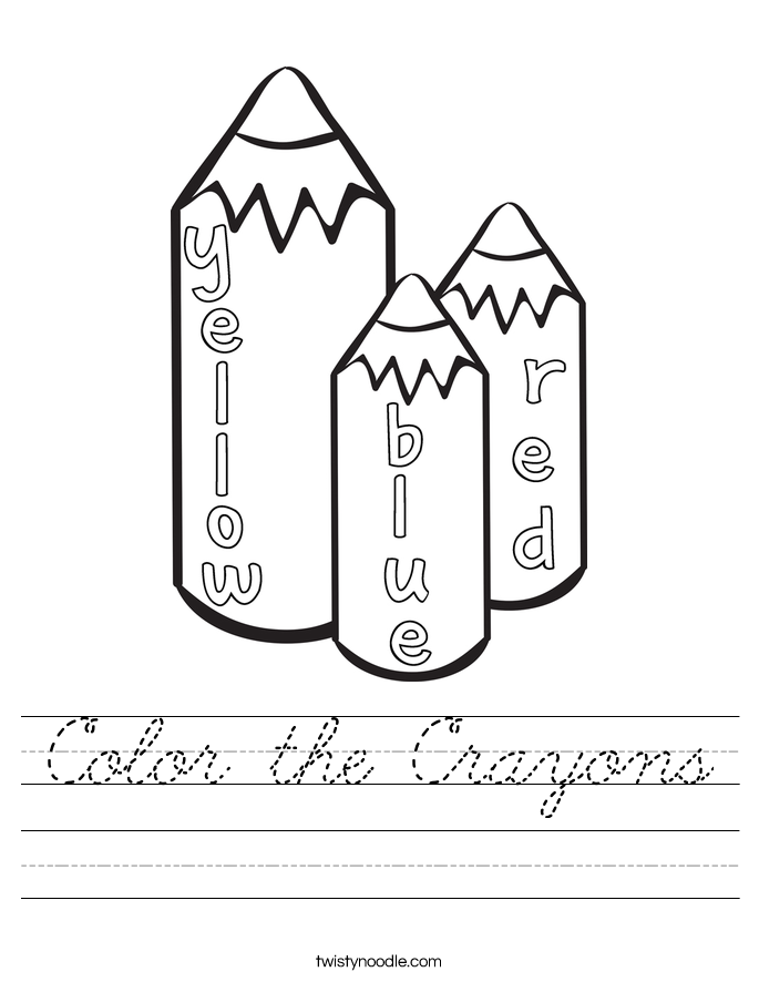 Color the Crayons Worksheet