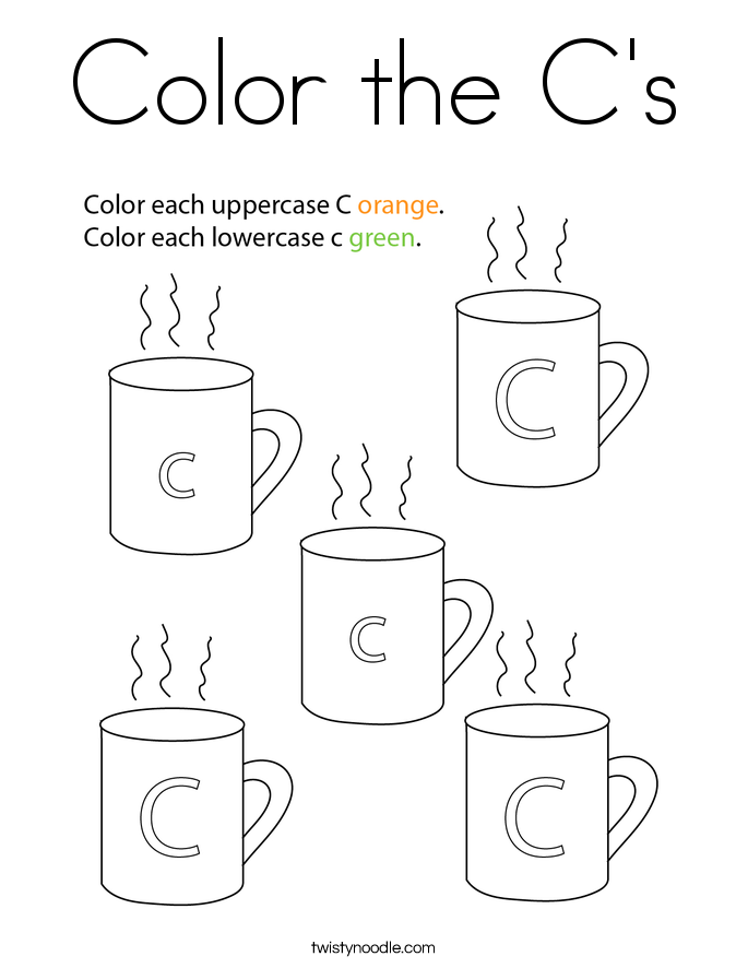 Color the C's Coloring Page