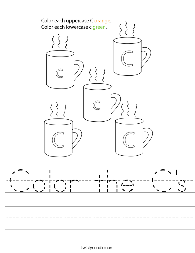 Color the C's Worksheet