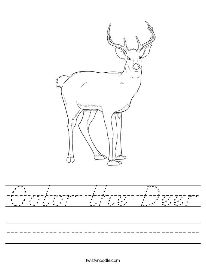 Color the Deer Worksheet