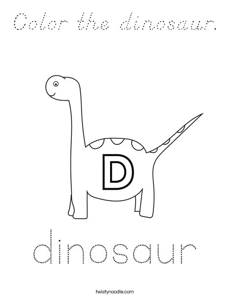 Color the dinosaur. Coloring Page