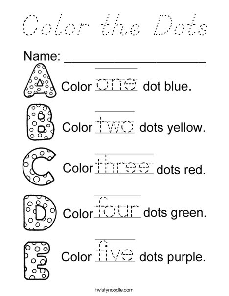 Color the Dots Coloring Page