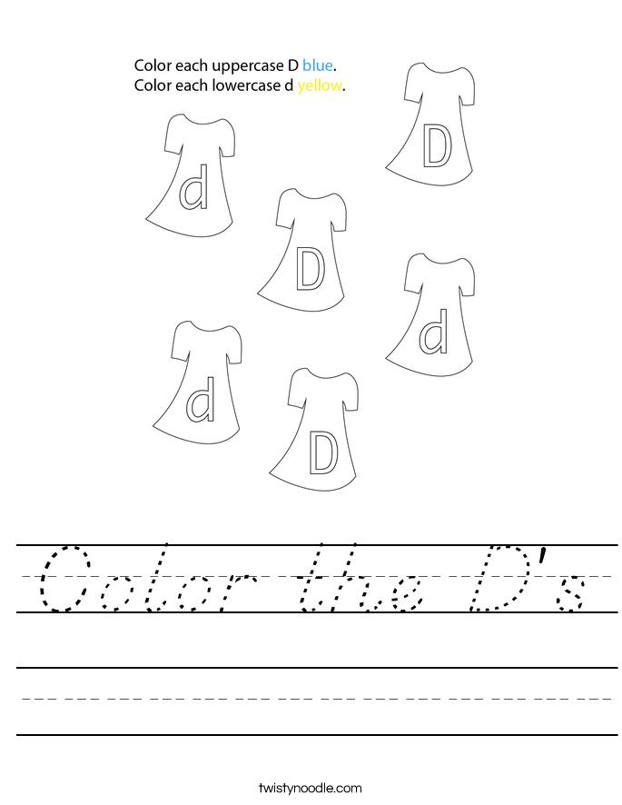 Color the D's Worksheet