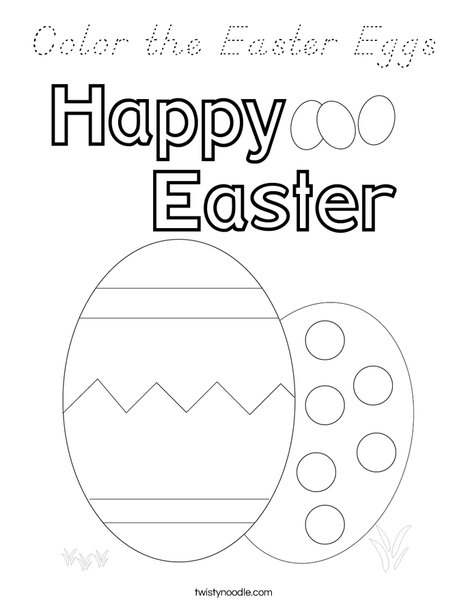 Color the Easter Eggs. Coloring Page
