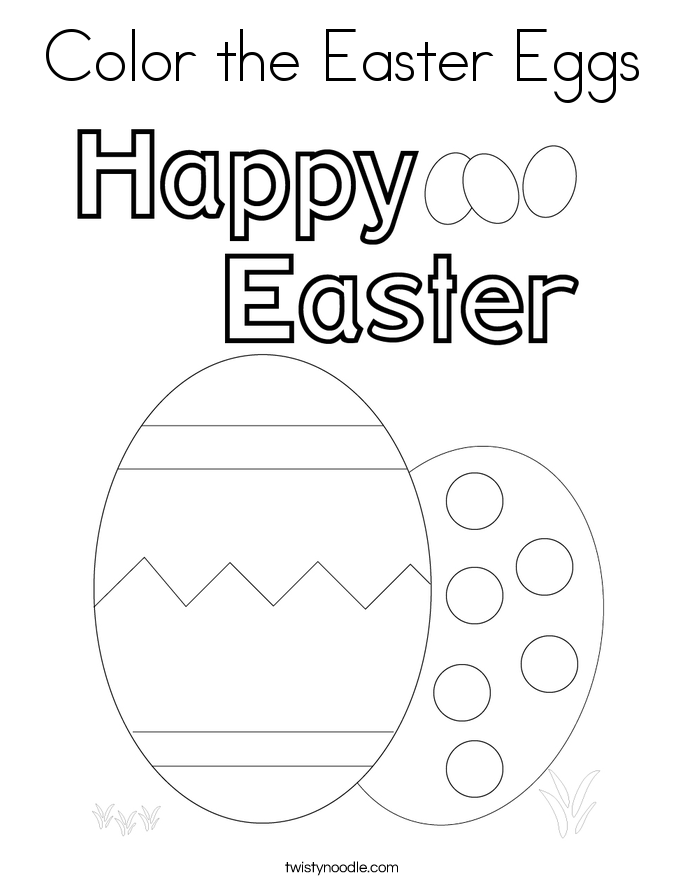 Color the Easter Eggs Coloring Page