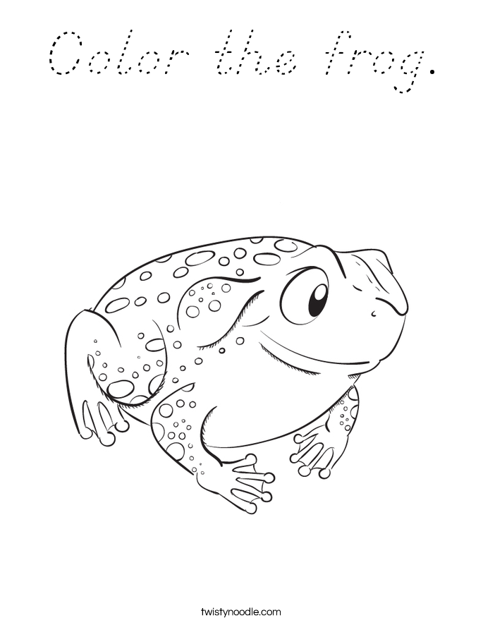Color the frog. Coloring Page