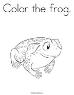 Color the frog Coloring Page