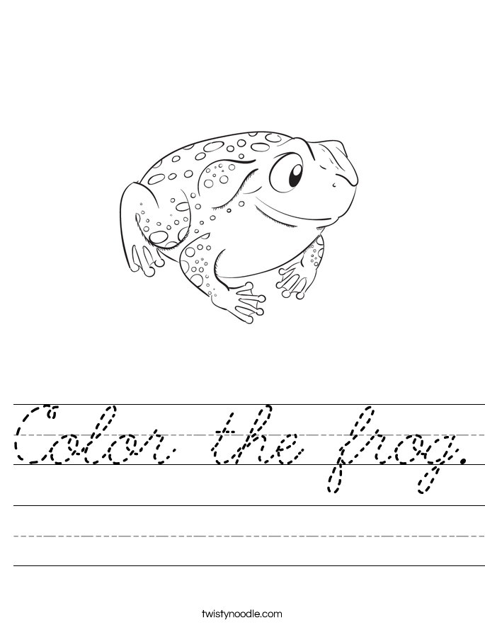 Color the frog. Worksheet
